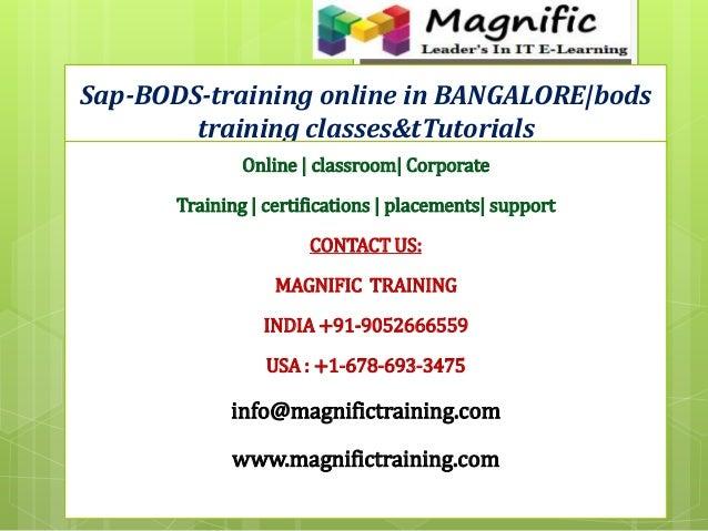 Sap-BODS-training online in BANGALORE|bods training classes&tTutorials Online | classroom| Corporate Training | certificat...