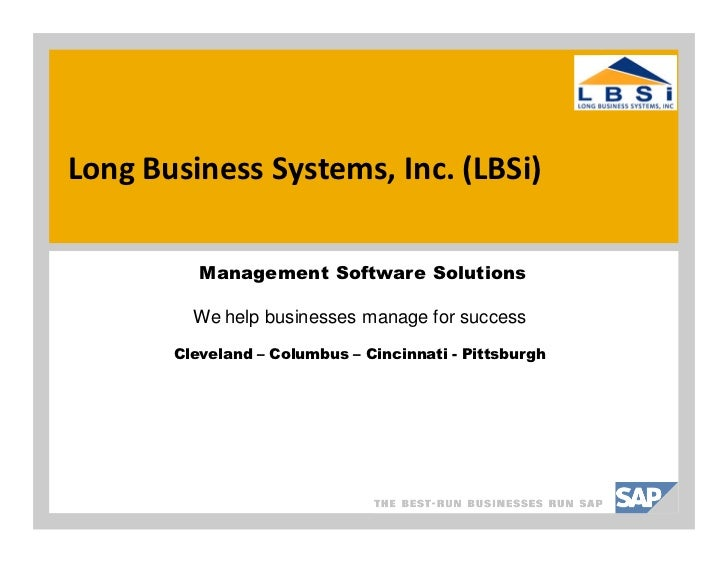 Long Business Systems, Inc. (LBSi)          Management Software Solutions         We help businesses manage for success   ...