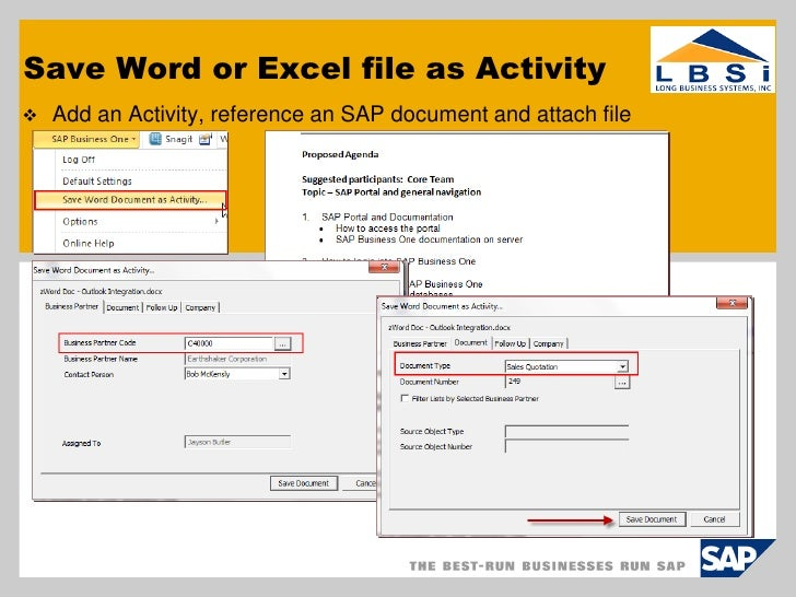 Sap Business One Outlook Integration User Group Presentation