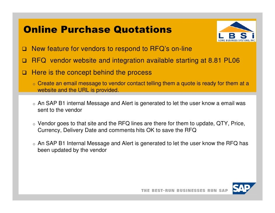 Sap Business-One-Purchase-Quotation