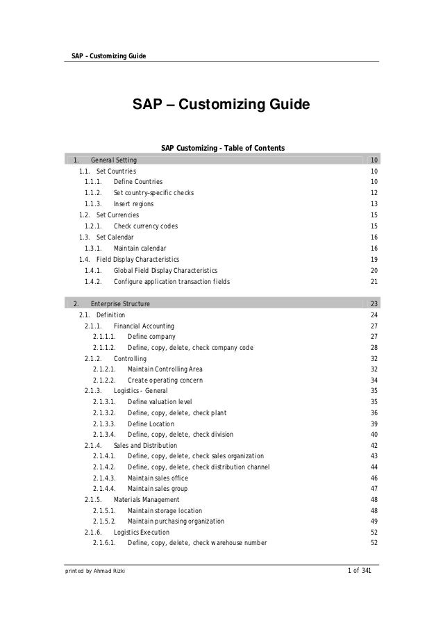 Sap configuration-guide