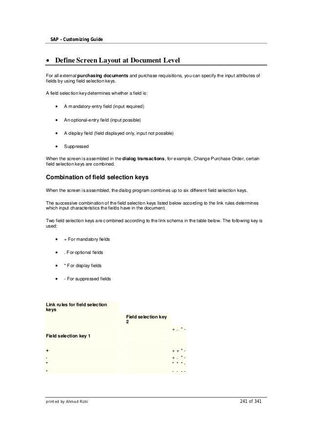 Sap configuration-guide