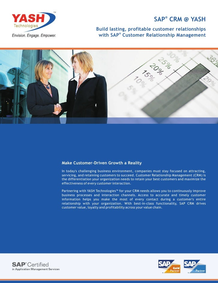 TM                                                              SAP® CRM @ YASH                          Build lasting, pr...