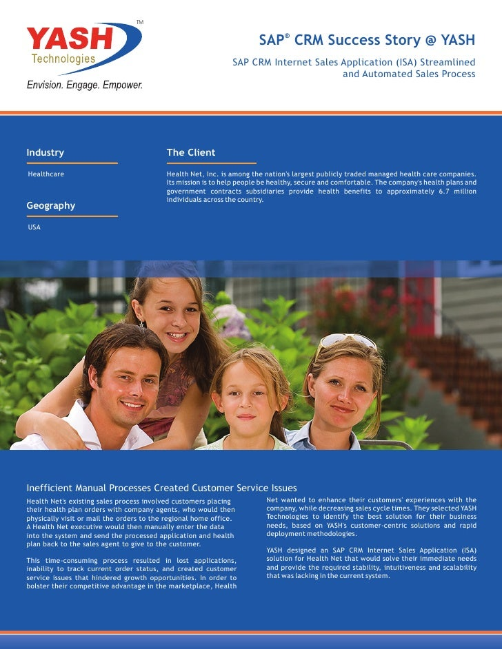 TM                                                                       SAP® CRM Success Story @ YASH                    ...