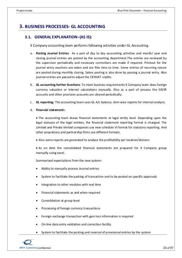 sap fico bbp sample document pdf new - Business Process Documentation Sample