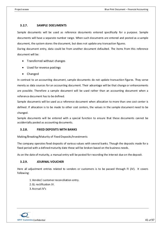 SAP FICO BBP Sample Document PDF NEW!