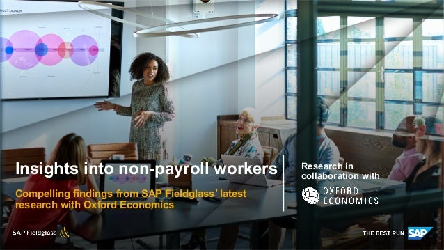 Insights into non-payroll workers | SAP Fieldglass