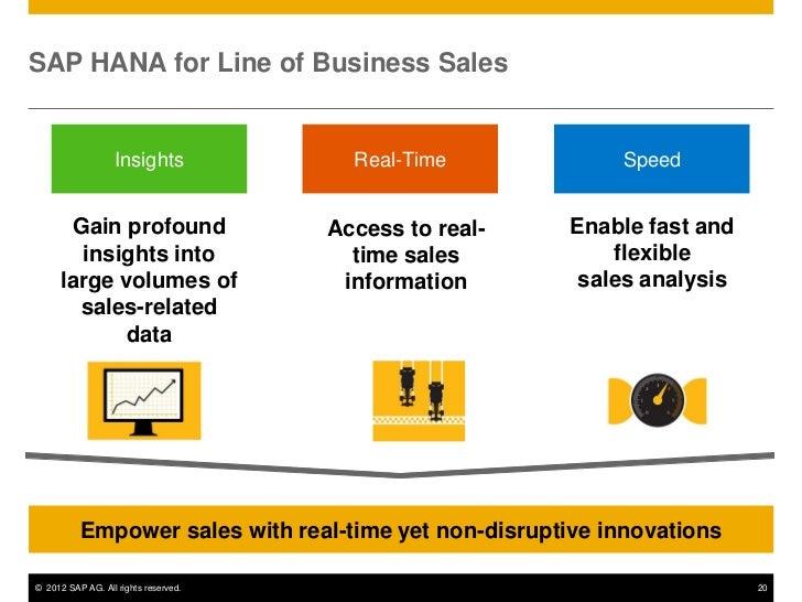 sap hana for line of business sales