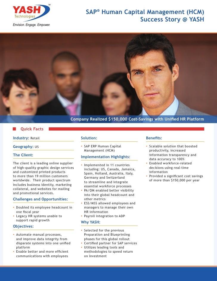 SAP® Human Capital Management (HCM)                                                               Success Story @ YASH    ...