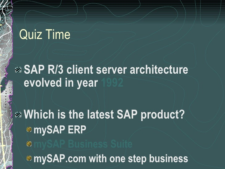 Introduction to sap for Sap r 3 architecture