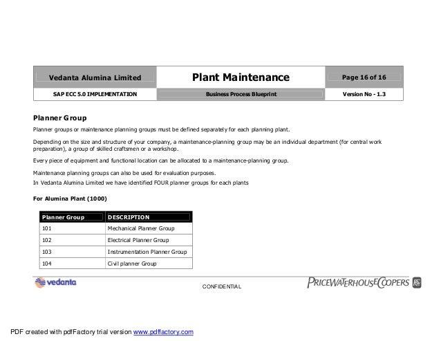 Sap plant maintenance pm business blueprint bbp2 16 malvernweather Image collections