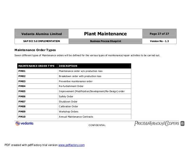 Sap plant maintenance pm business blueprint bbp2 27 malvernweather Choice Image