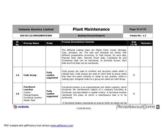 Sap plant maintenance pm business blueprint bbp2 32 malvernweather Choice Image