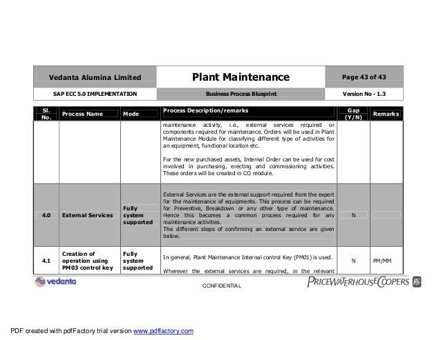 Sap plant maintenance pm business blueprint bbp2 43 malvernweather Image collections
