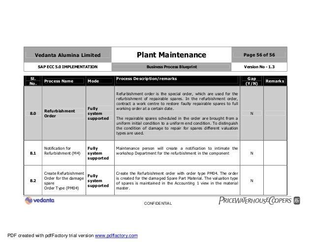 Sap plant maintenance pm business blueprint bbp2 56 malvernweather Choice Image