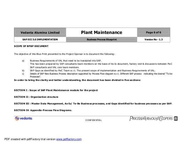 Sap plant maintenance pm business blueprint bbp2 6 malvernweather Gallery