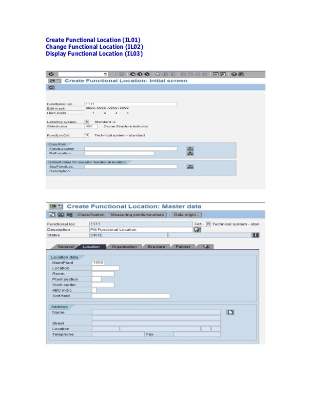 sap pm master data pdf