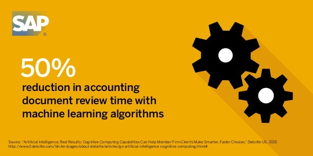 """50% reduction in accounting document review time with machine learning algorithms Source: """"Artificial Intelligence, Real Re..."""
