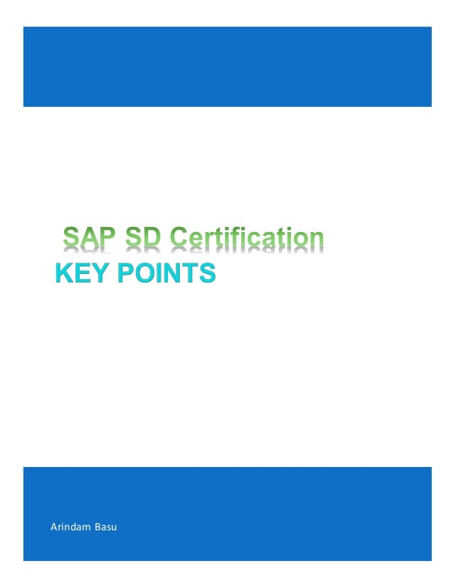 Sap Sd Certification Ctscm6266 Preparation Training Notes