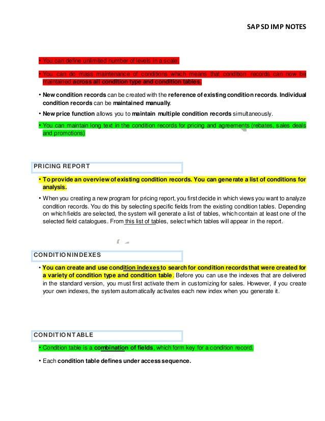 SAP SD Certification (C_TSCM62_66) Preparation Training Notes