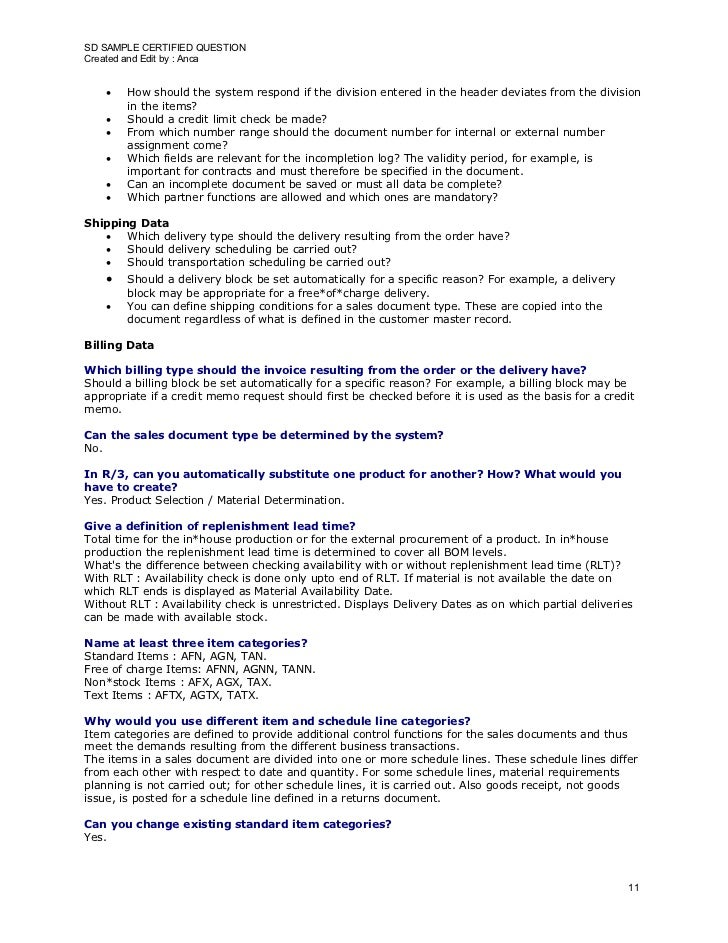 SD SAMPLE CERTIFIED QUESTION Created and Edit by : Anca          How should the system respond if the division entered in...