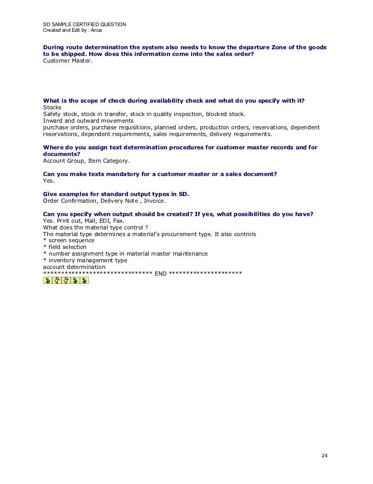 SD SAMPLE CERTIFIED QUESTION Created and Edit by : Anca   During route determination the system also needs to know the dep...