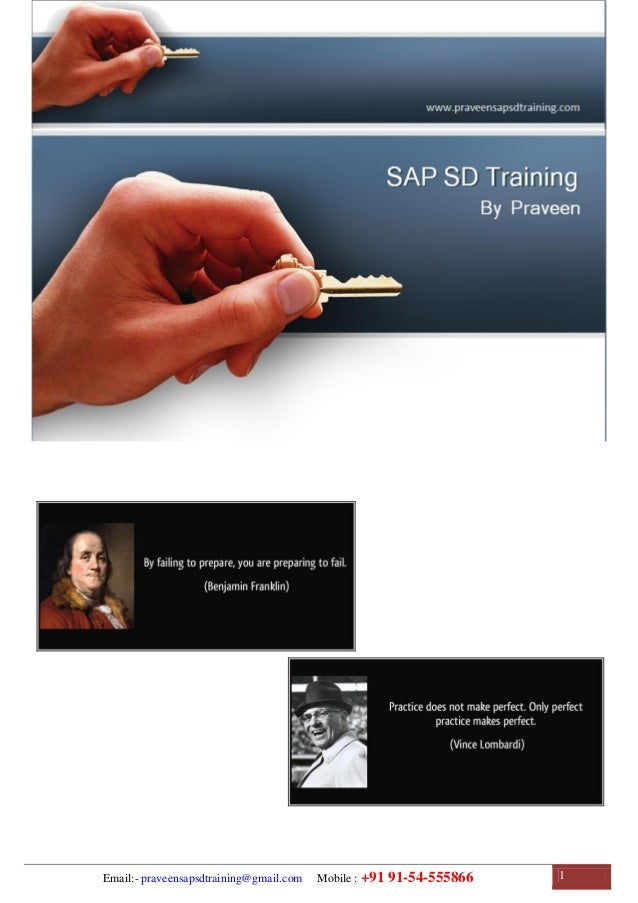 SAP SD Training | SAP SD Configuration Guide | SAP SD Study Material