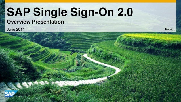 SAP Single Sign-On 2.0  Overview Presentation  June 2014 Public