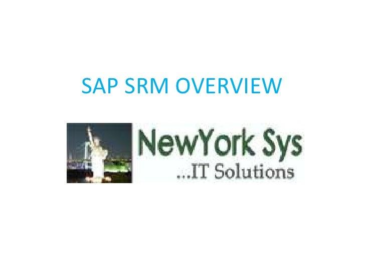 SAP SRM OVERVIEW