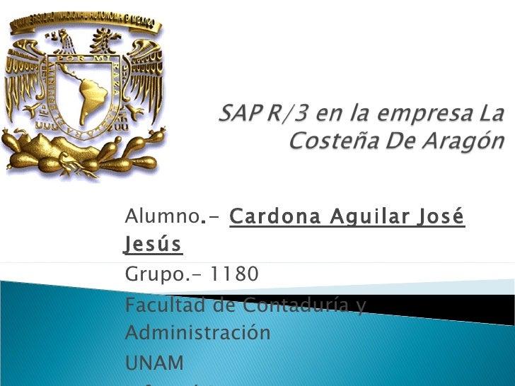 Alumno .-  Cardona Aguilar José Jesús Grupo.- 1180 Facultad de Contaduría y Administración UNAM Informática Teoría del Con...