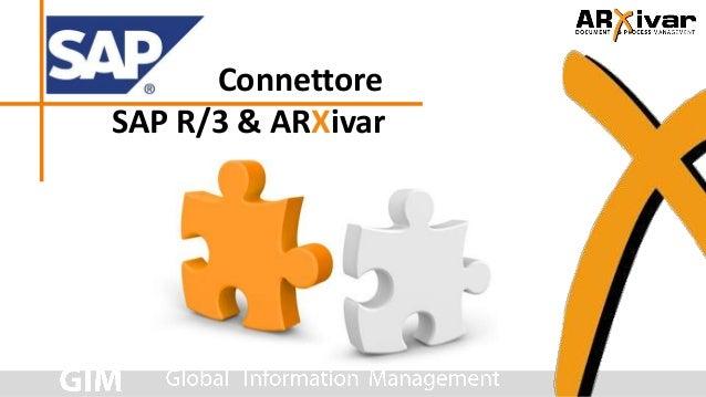 ConnettoreSAP R/3 & ARXivar