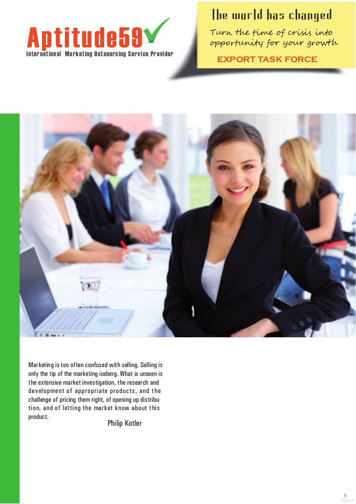 T he w orld has changedAptitude59International Marketing Outsourcing Service Provider                                     ...