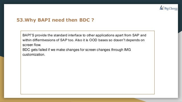 Sap abap interview questions part2 faqs - www bigclasses com