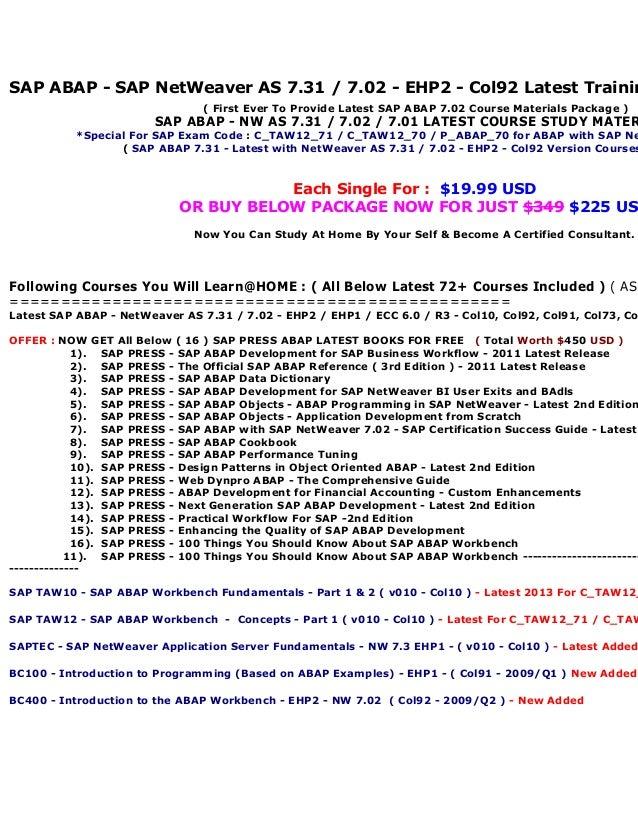 Taw10 Abap Workbench Fundamentals Pdf