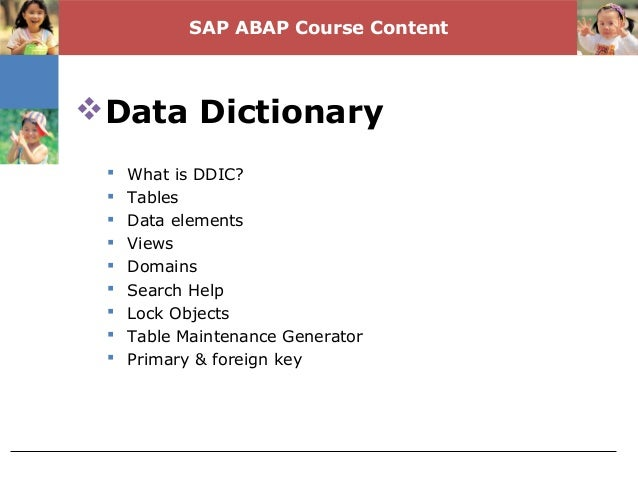 primary key and foreign relationship in sap abap tutorial