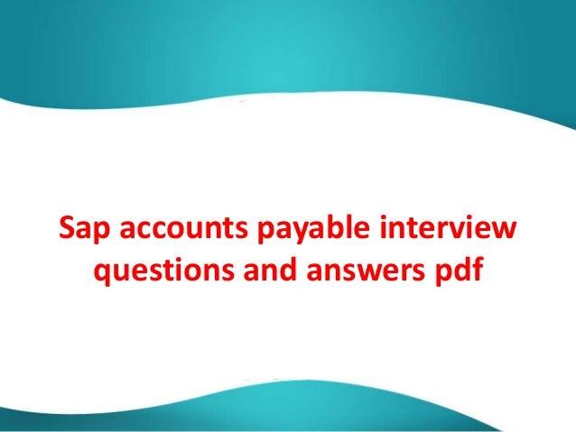 Sap Fico Interview Questions Pdf