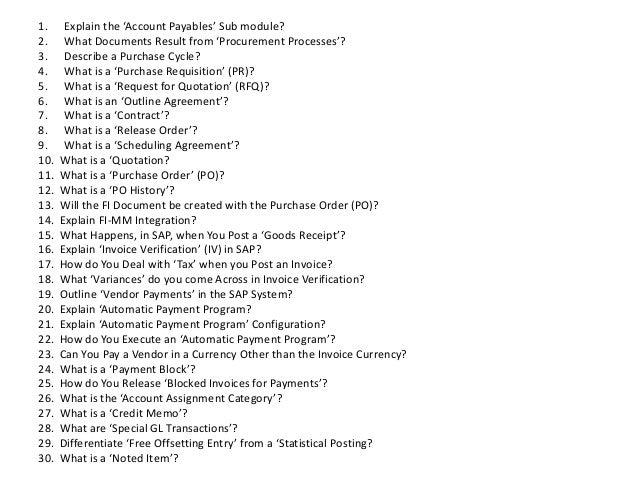 SAP QM Interview Questions