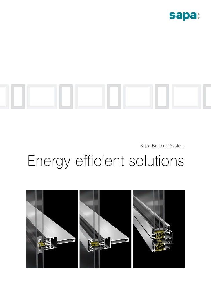 Sapa Building System   Energy efficient solutions