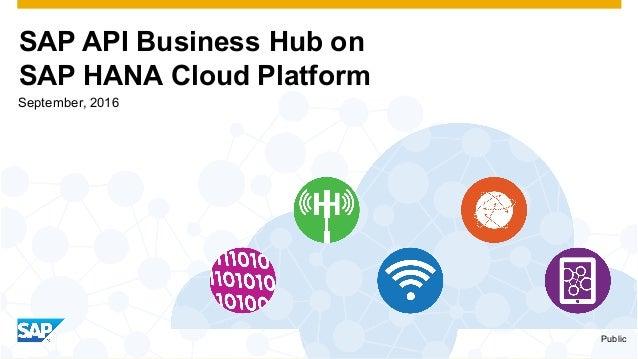 SAP API Business Hub on SAP HANA Cloud Platform Public September, 2016