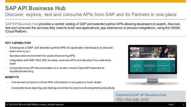 SAP API Business Hub