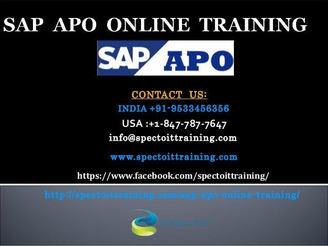 CONTACT US: INDIA +91-9533456356 USA:+1-847-787-7647 info@spectoittraining.com www.spectoittraining.com https://www.face...