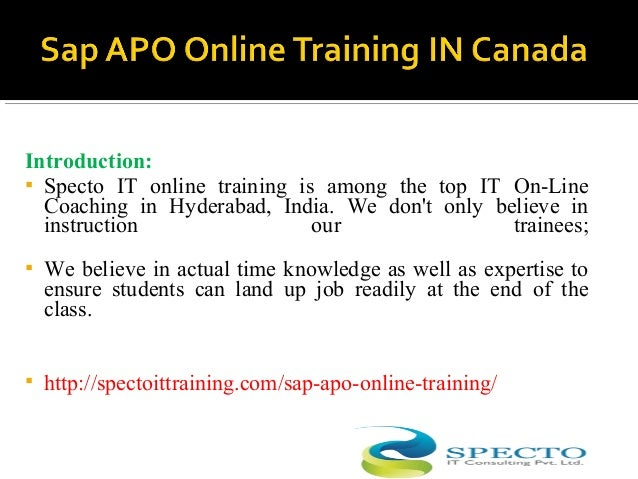 Introduction:  Specto IT online training is among the top IT On-Line Coaching in Hyderabad, India. We don't only believe ...