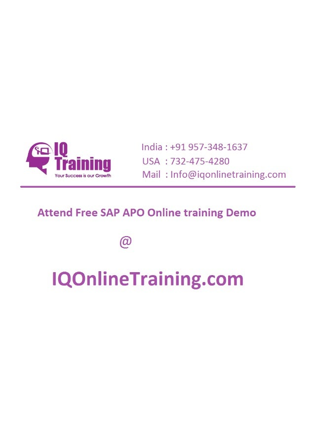 Sap apo online training in hyderabad india usa uk singapore australia