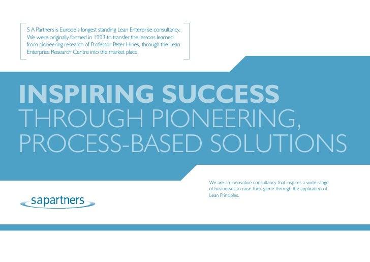 [                                                                        ] S A Partners is Europe's longest standing Lean ...