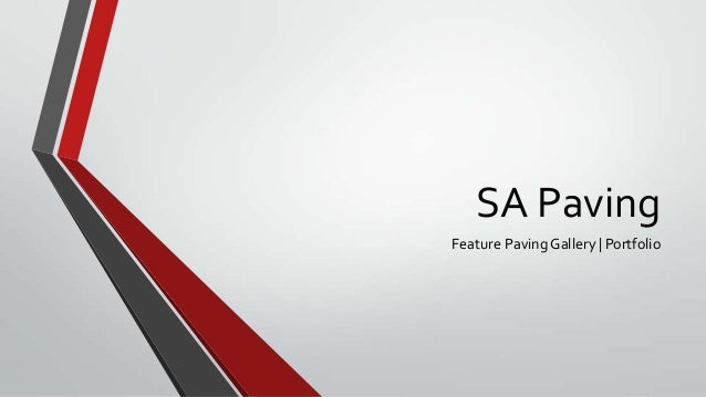 SA Paving Feature Paving Gallery | Portfolio