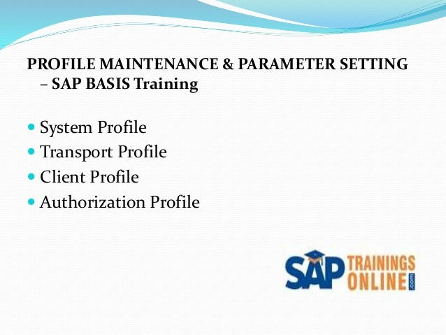 SAP Basis Tutorials SAP Profiles - oukas info