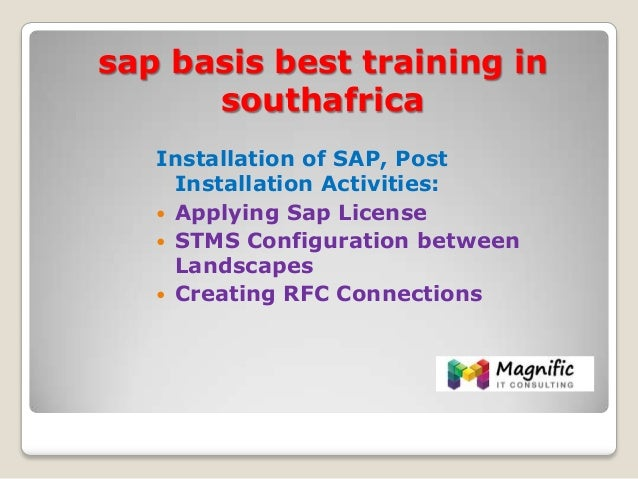 Sap Basis Best Training In Southafrica