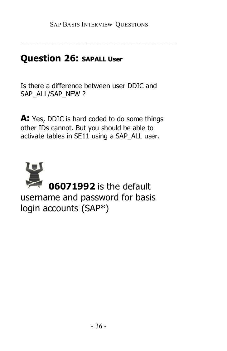 sap basis certification questions pdf