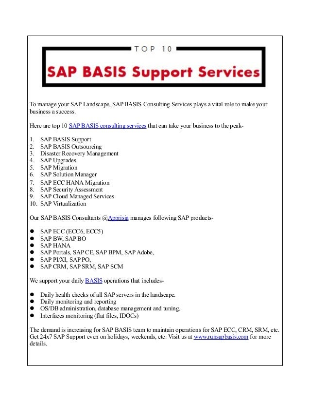 Technology Management Image: Top 10 SAP BASIS Consulting Services Your Business Needed