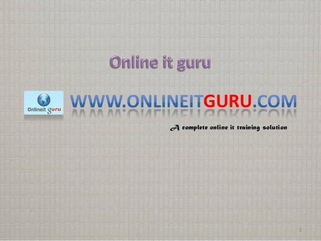 GURU A complete online it training solution  1